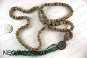 Wood necklace NEC-WOO-2401