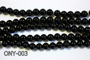 Black Onyx Round 8mm ONY-003