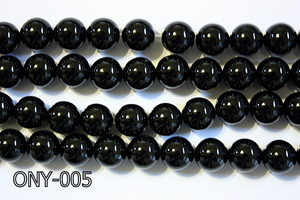 Black Onyx Round 12mm ONY-005