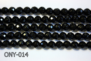 Black Onyx Faceted Round 6mm ONY-014