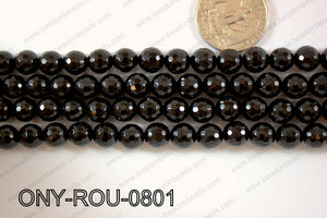 Onyx Round Faceted 8mm ONY-ROU-0801