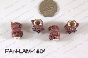 Pandora beads Lampwork 13x18mm 5mm hole Bear PAN-LAM-1804