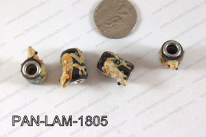 Pandora beads Lampwork 13x18mm 5mm hole lizard PAN-LAM-1805