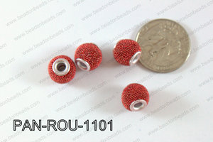 Pandora Beads 11mm 3mm hole red PAN-ROU-1101