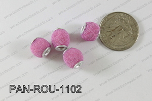 Pandora Beads 11mm 3mm hole light pink PAN-ROU-1102