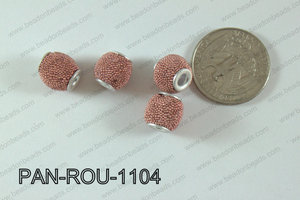 Pandora Beads 11mm 3mm hole coral PAN-ROU-1104