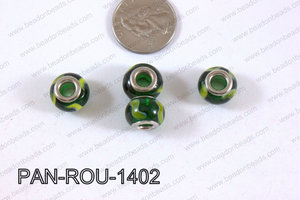 Pandora beads 14x10mm 5mm hole PAN-ROU-1402
