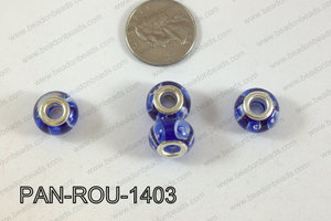 Pandora beads 14x10mm 5mm hole PAN-ROU-1403