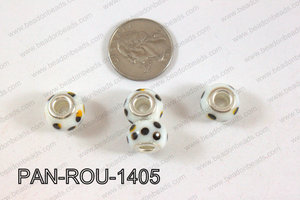 Pandora beads 14x10mm 5mm hole PAN-ROU-1405