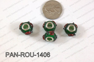 Pandora beads 14x10mm 5mm hole PAN-ROU-1406