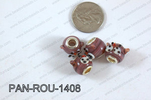 Pandora beads 14x10mm 5mm hole PAN-ROU-1408