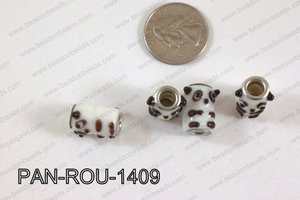 Pandora beads 14x10mm 5mm hole PAN-ROU-1409