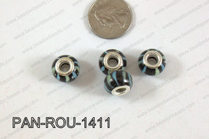 Pandora beads 14x10mm 5mm hole PAN-ROU-1411