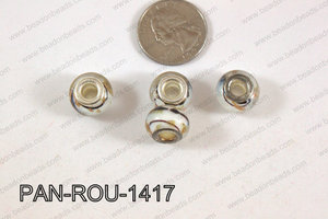 Pandora beads 14x10mm 5mm hole PAN-ROU-1417