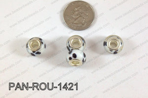 Pandora beads 14x10mm 5mm hole PAN-ROU-1421