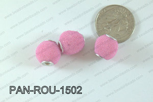 Pandora Beads 15mm 3mm hole light pink PAN-ROU-1502