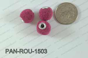 Pandora Beads 15mm 3mm hole dark pinkPAN-ROU-1503