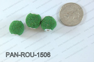 Pandora Beads 15mm 3mm hole green PAN-ROU-1506