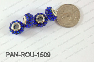 Pandora Beads 15mm 5mm hole dark blue PAN-ROU-1509
