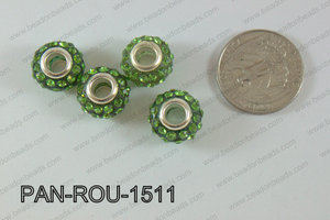 Pandora Beads 15mm 5mm hole green PAN-ROU-1511