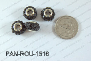 Pandora Beads 15mm 5mm hole black PAN-ROU-1516