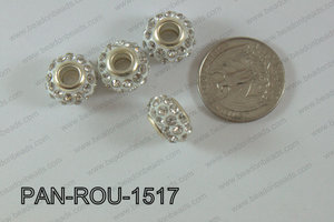 Pandora Beads 15mm 5mm hole clear PAN-ROU-1517