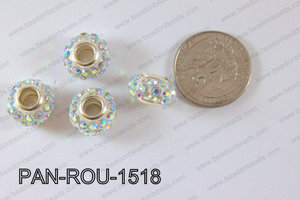 Pandora Beads 15mm 5mm hole AB PAN-ROU-1518