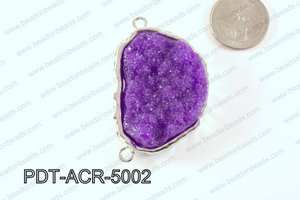 Acrylic Imitation Druzy Connector Purple 40-50mm PDT-ACR-5002