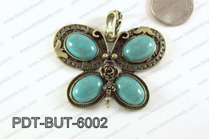 Butterfly Pendant Bronze with Acrylic 46x60mm PDT-BUT-6002