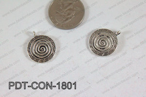 Coin Pendant Silver 18mm PDT-CON-1801