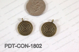 Coin Pendant Bronze 18mm PDT-CON-1802