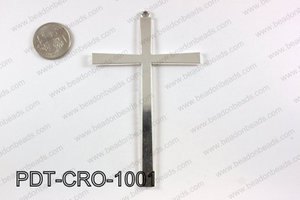 Pewter cross pendant 65X100 mm, silver PDT-CRO-1001