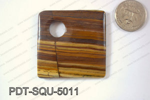Tiger Eye Pendant Square 50mm PDT-SQU-5011