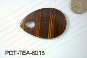Tiger Eye Pendant Teardrop 60x40mm PDT-TEA-6015