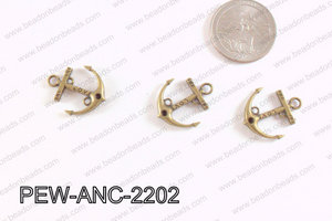 Pewter Anchor Charms Bronze 18x22mm PEW-ANC-2202