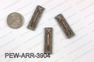 Pewter arrow bar pendant 11x 39 mm PEW-ARR-3904