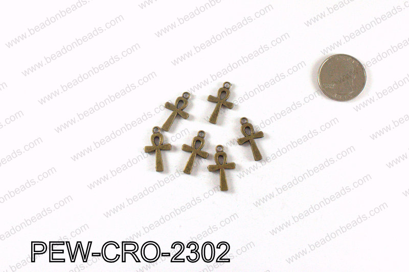 ANKH cross charms 23x13mm, Bronze PEW-CRO-2302
