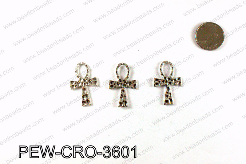 ANKH cross 36x23mm, Silver PEW-CRO-3601