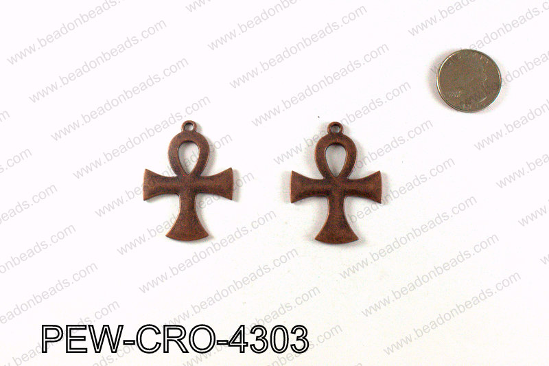 ANKH cross pendant 43x33mm, Copper PEW-CRO-4303