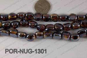 Porcelain Nugget Black 13mm POR-NUG-1301