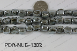 Porcelain Nugget Grey 13mm POR-NUG-1302