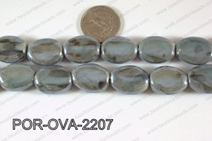 Porcelain Oval Grey 22mm POR-OVA-2207