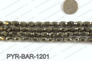 Pyrite barrel faceted 8x12mm PYR-BAR-1201