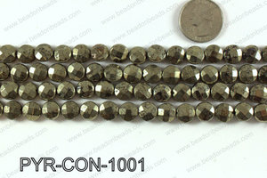 Pyrite coin faceted 10mm PYR-CON-1001