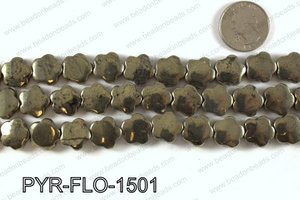 Pyrite Flower 15x15mm PYR-FLO-1501