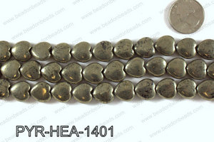 Pyrite Heart 14x14mm PYR-HEA-1401