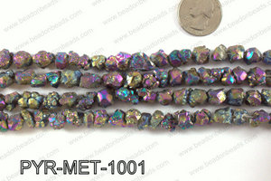 Pyrite metallic coated nuggets 10x10mm PYR-MET-1001