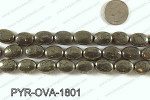Pyrite oval 13x18mm PYR-OVA-1801