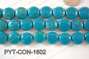 Pyrite Turquoise Composite Coin 16mm PYT-CON-1602