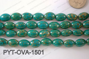 Pyrite Turquoise Composite Oval 10x15mm PYT-OVA-1501